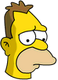Jeune Grand-père Simpson Triste
