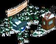 Stand de sapins de Noël biscornus