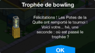 Trophée de bowling Déblo