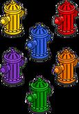 Pack de bouches d'incendie colorées