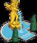 Statue dans jardins