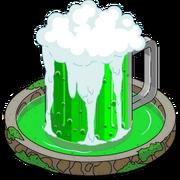 Fontaine à bière verte