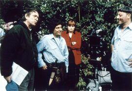 Tournage - Les Visiteurs II - Poiré, Clavier, Robin, Reno (1997)