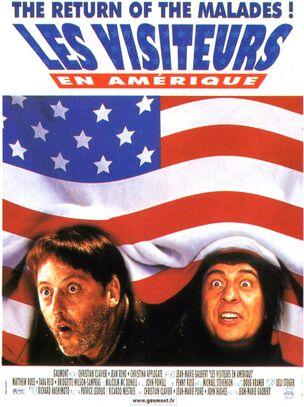 Les Visiteurs en Amérique - affiche