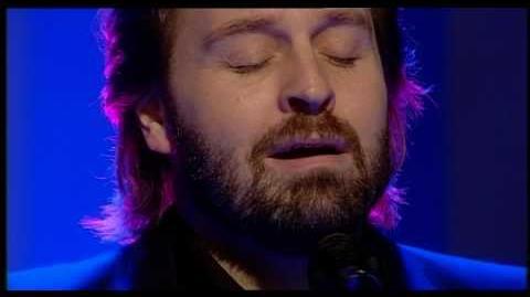 Alfie Boe singing 'Bring him home' live on QVC