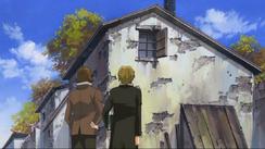 Marius and Courfeyac Outside Gorbeau House