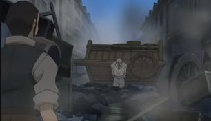Valjean Pulls Cart