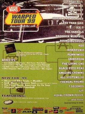 Warped Tour 99 Poster