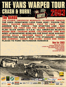 Warped Tour 2003 Poster