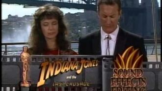 Indiana Jones and the Last Crusade Wins Sound Effects Editing 1990 Oscars