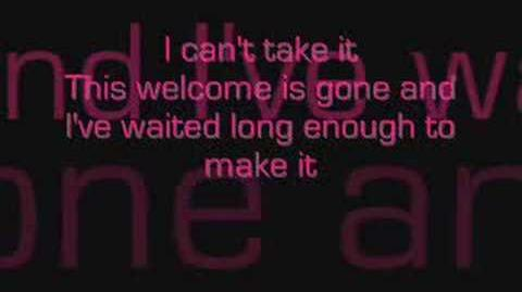 """""""Can't Take It"""" by The All-American Rejects (with lyrics)"""