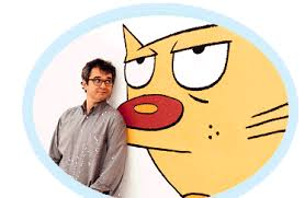Peter Hannan with Cat from CatDog
