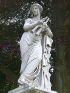 Euterpe auf Brunnenwand peint par Friedrich Ochs-Sanssouci