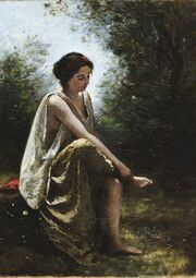 Corot Jean-Baptiste-Camille-Wounded Eurydice