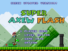 Super Axew Flash title