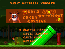 Crash Bandicoot Edition title