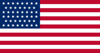 Flag of the United States in 1910