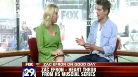 Zac Efron on Good Day Philadelphia, Fox 29