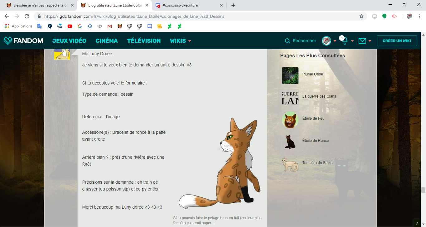 Blog utilisateur Lune Etoilé Coloriages de Line Dessins Wiki La guerre des Clans FANDOM powered by Wikia - Google Chrome 23 03 2019 19 19 28