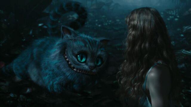 image chat de cheshire personnage dans alice au pays des merveilles film wiki la. Black Bedroom Furniture Sets. Home Design Ideas
