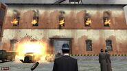 Сжигаем склад в конце миссии