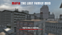 Mafia The Lost Family Mod - loading screen