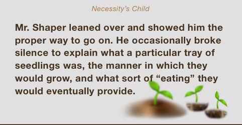 Necessity's child excerpt
