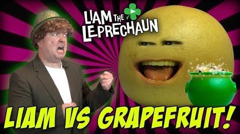 Liam The Leprechaun - Liam Vs. Grapefruit! (The Annoying Orange!)