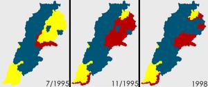 Situace v Libanonu 1995-1998