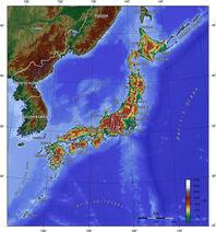 Japan topo