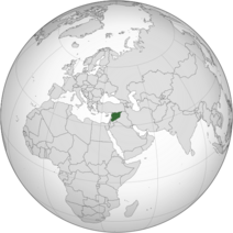 Syria (orthographic projection)