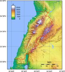 Lebanon Topography