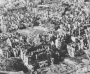 Destroyed Warsaw capital of Poland January 1945