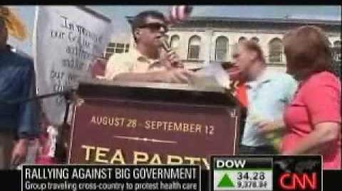 Tea Party Extremists Yell for free on CNN