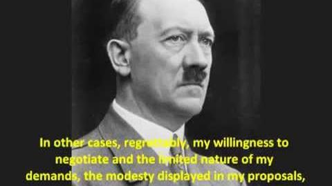 (VERY RARE HITLER SPEECH) - Undeniable PROOF that Adolf Hitler wanted Peace with England France-1