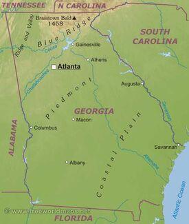 Georgia US State Liberapedia FANDOM Powered By Wikia - Georgia us state map