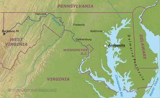 Maryland-map