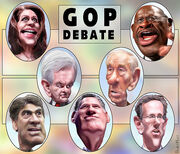 Caricatures- GOP Presidential Debate Participants