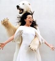 Bjork-and-a-polar-bear