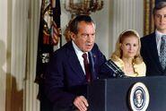 Nixon resigns as President