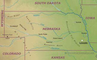 Nebraska-map