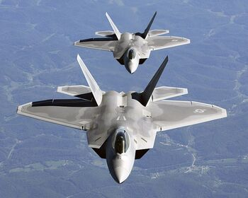750px-Two F-22A Raptor in column flight