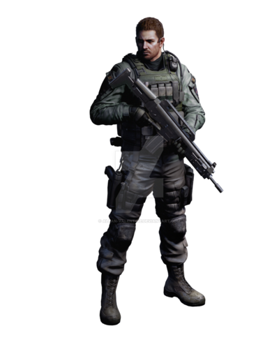 Chris redfield re6 professional render by allan valentine-d5984dh