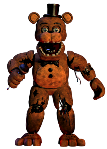 Withered Freddy Official Render