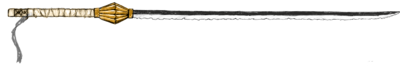 Espada do Zaraki Kempachi Base (Colored By Phanthaminum)