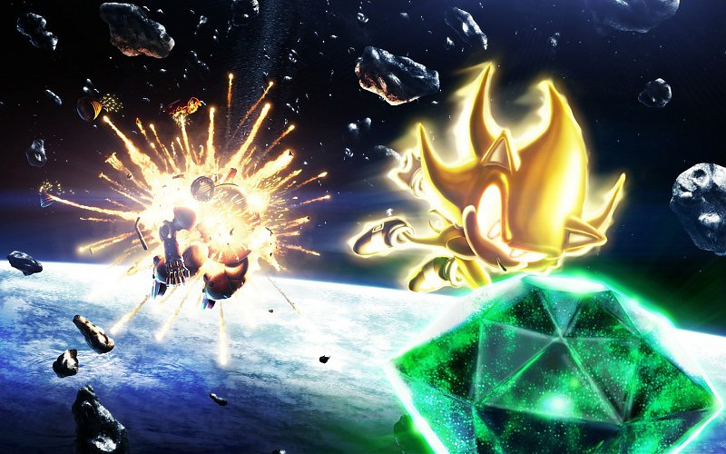 Sonic The Hedgehog Outer Space Sega Entertainment Super Chaos Emerald 1493x1118 Wallpaper 569688