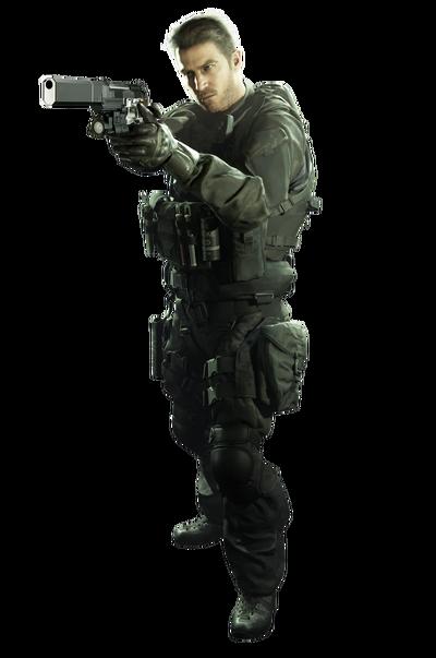 Resident Evil 7 Biohazard Chris Redfield merc render 01 alpha