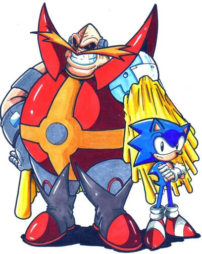 Archie dr ivo robotnik and sonic cl by trunks24-d5agwke