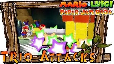 Mario & Luigi Paper Jam - All Trio Attacks (Paper Mario Special Moves)