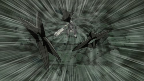 Tobi using shuriken